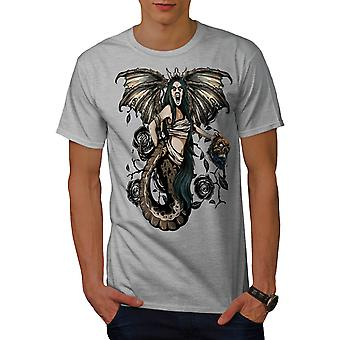Monster Mystic Fantasy Men Grey T-shirt | Wellcoda