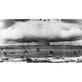 Atomic bomben Bikini Atoll Marshalløyene plakatutskrift