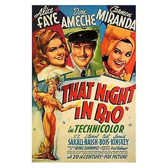 That Night in Rio Movie Poster (11 x 17)