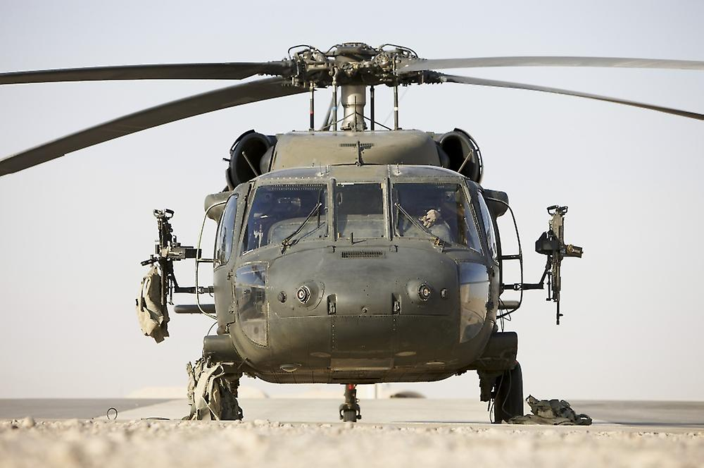 Front View of a UH-60L Black Hawk Helicopter