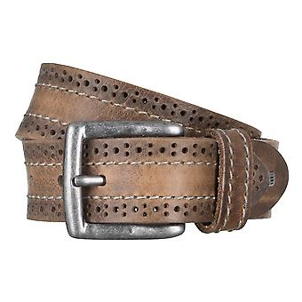 SAKLANI & FRIESE belts men's belts leather belts, beige 472