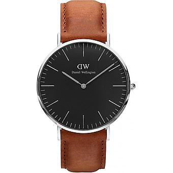 Montre Daniel Wellington Durham DW00100132 - Montre Cuir Marron Homme