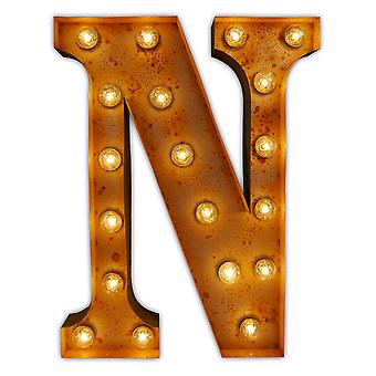 Large Vintage Letter Lights - N