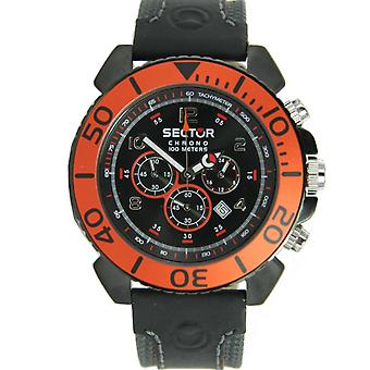 Sector men's watch Cronograph Centurion leather - R3271603025