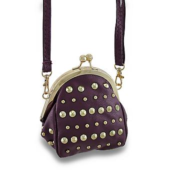 Studded Coin Purse Style Cross Body Purse w/Removable Strap