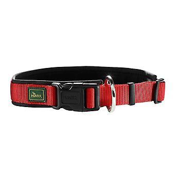 Hunter Neopren Vario Plus 35 Nylon Collar Red/black 15mm X 30-35cm