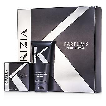 Krizia Pour Homme Coffret: Eau De Toilette Spray 30ml/1oz + Hair & Body Shampoo 100ml/3.38oz 2pcs