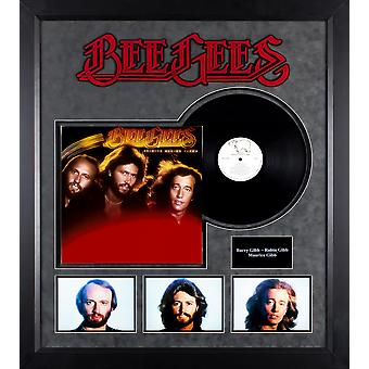 Bee Gees - Spirits Having Flown - vinilo Vintage álbum personalizado enmarcado Collage