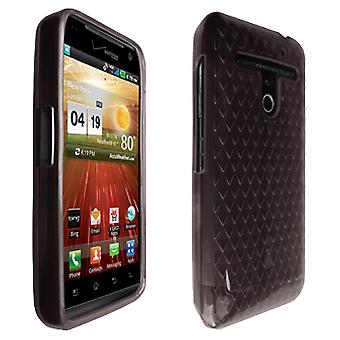 OEM Verizon LG Revolution VS910 High Gloss Silicone Case (Black) (Bulk Packaging