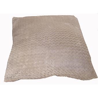 Country Club Chevron Fleece Jumbo Cushion, 55 x 55cm, Natural Ecru