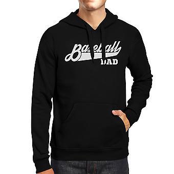 Baseball Dad Men's Black Hoodie Funny Gift For Baseball Fan Dad