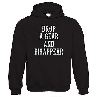 Drop a Gear and Disappear, Mens Funny Biker Hoodie
