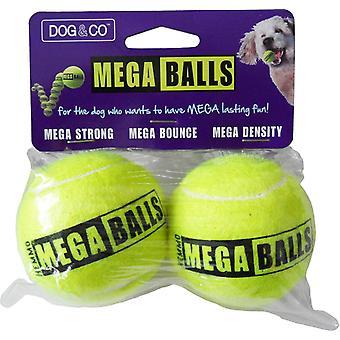 Hund & Co Mega Ball ingen smag 2 Pack 2,5
