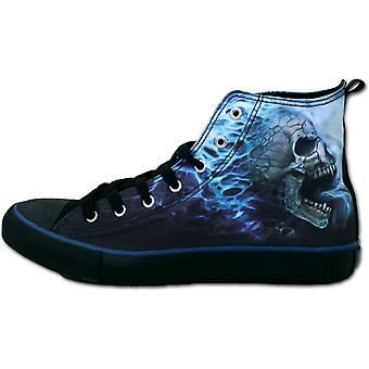 Flaming Spine  Sneakers  Men's High Top Laceup