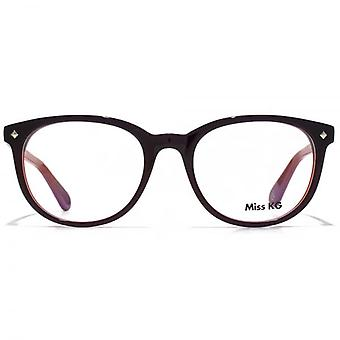 Miss KG Soft Oval Glasses In Burgundy