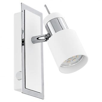 Eglo 1-light W.switch Chrome/white 'DAVIDA'