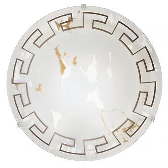 Ras tradicionales luz Eglo Twister 2 techo ligero efecto mármol