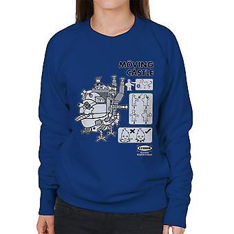 Studio Ghibli Ikea hyler flytting Castle kvinners Sweatshirt