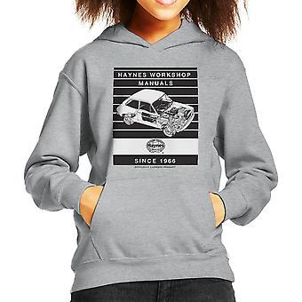 Haynes Workshop Manual 0173 Fiat 127 Stripe Kid's Hooded Sweatshirt