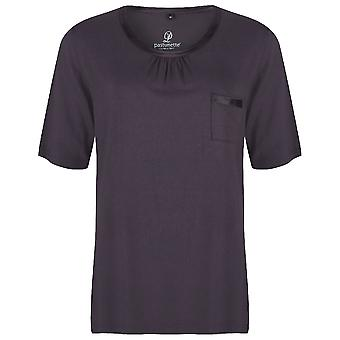 Pastunette Deluxe Loungewear Dark Grey Short Sleeve Top 4061-307-2 (959)