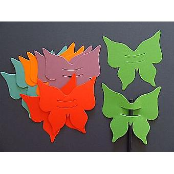 10 Bright Coloured Butterfly Finger Puppets | Kids Insect & Bug Crafts
