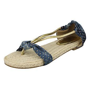 Ladies Savannah Flat Toe Post Sandals 'L6680'