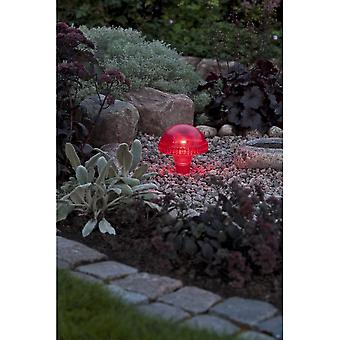 Konstsmide Assisi Red Mushroom Solar Light