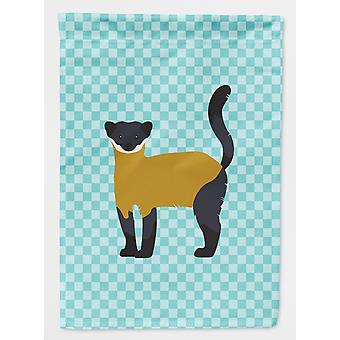 Yellow-Throated Marten Blue Check Flag Canvas House Size