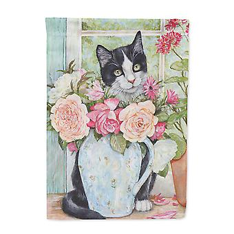 CDCO0176GF черно -белая кошка флаг розарий размер Каролинских сокровища