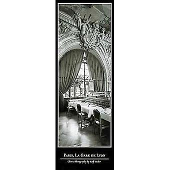Paris La Gare De Lyon Poster Print (14 x 39)
