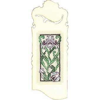 Bookmark Blooming Iris Counted Cross Stitch Kit-2.25