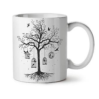 Fantastic Cage Tree NEW White Tea Coffee Ceramic Mug 11 oz | Wellcoda