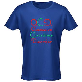 OCD Obsessive Christmas Disorder Xmas Funny Womens T-Shirt 8 Colours by swagwear