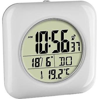 TFA 60.4513.02 Radio Wall clock 170 mm x 170 mm x 60 mm White Suitable for bathrooms/wet rooms