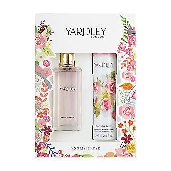 Yardley English Rose Gift Set 50ml EDT + 75ml Body Spray