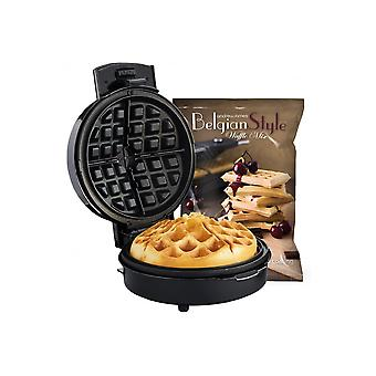 Andrew James Volcano Waffle Maker, Unique Award Winning Design With Non-Stick Plates, Includes 1kg Bag Of Waffle Mix