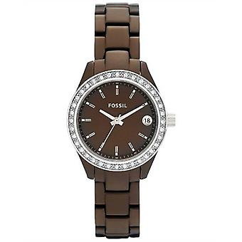 Fossil Ladies Watch Chocolate Stella Stainless Steel Strap ES2963