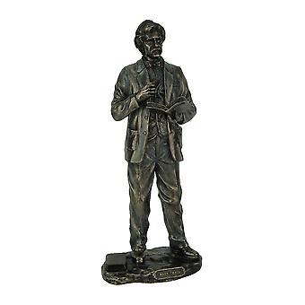 انتهى البرونز المعدني تمثال مارك توين