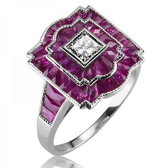 Ladies Shipton And Co Exclusive 18ct White Gold And 2.5ct Ruby Ring S08812RUD