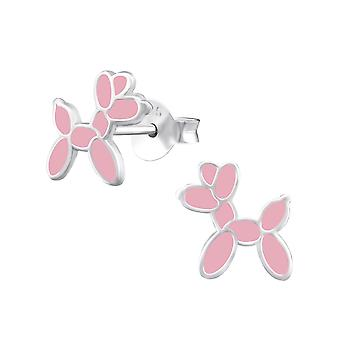 Balloon Dog - 925 Sterling Silver Colourful Ear Studs - W33546x