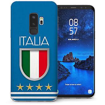 Samsung Galaxy S9 Plus Italien fotboll sköld TPU Gel Case – Blue