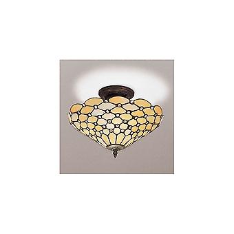 Interiors 1900 SF01 + TO6/M Pearl Classic Tiffany 3 Light Ceiling Fixt