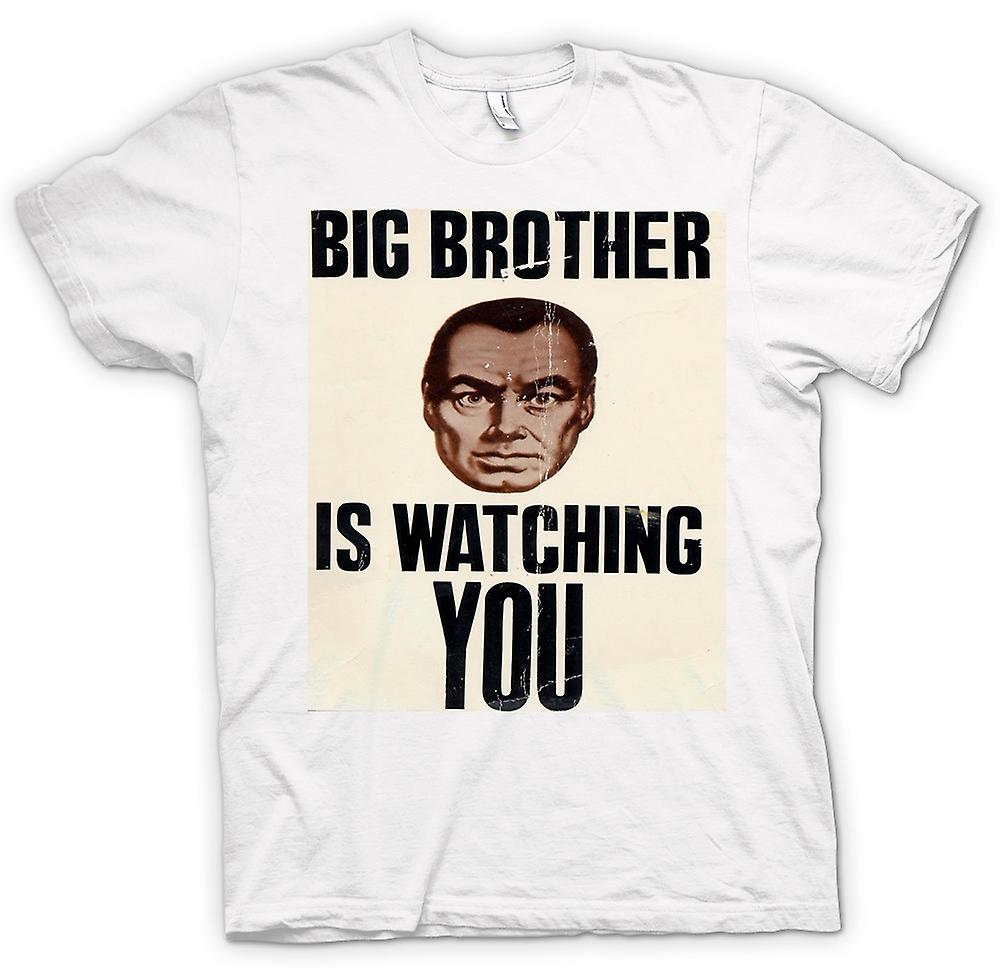 Womens T-shirt-Big Brother Is Watching You - Poster