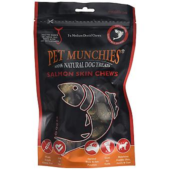 Pet Munchies laks hud Chew, Medium (Pack af 8 x 90g)