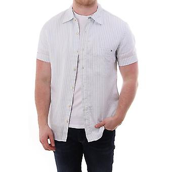 PS Paul Smith Mens Striped Linen Shirt S/s