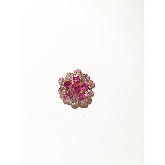 Antique Gold and Pink Brooch