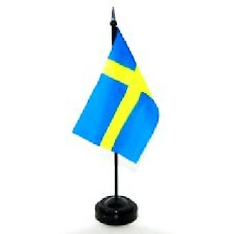 Sweden Table Flag with Stick and Base