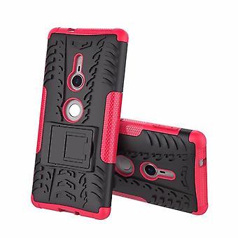 Hybrid fall 2 bit SWL robot rosa för Sony Xperia XZ2 väska fallet täcker skydd