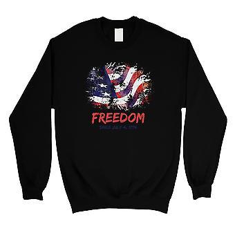 Freiheit seit dem 4. Juli Unisex schwarz Rundhals Sweatshirt nettes Geschenk
