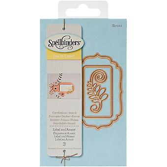 Spellbinders Shapeabilities Die D-Lites-Label And Accent